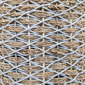 Up close wicker basket weave