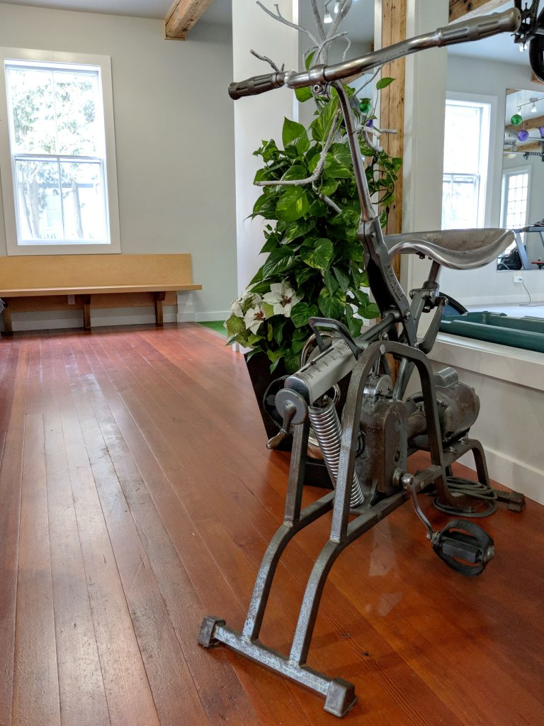 antique stationary bike