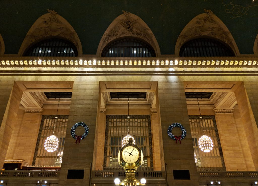 the clock at grand central station