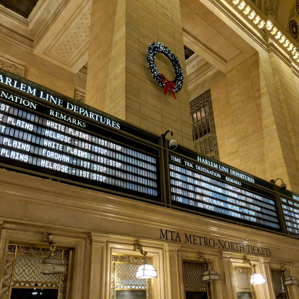 train times at grand central station