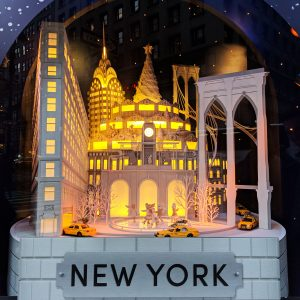 christmas window display in new york city
