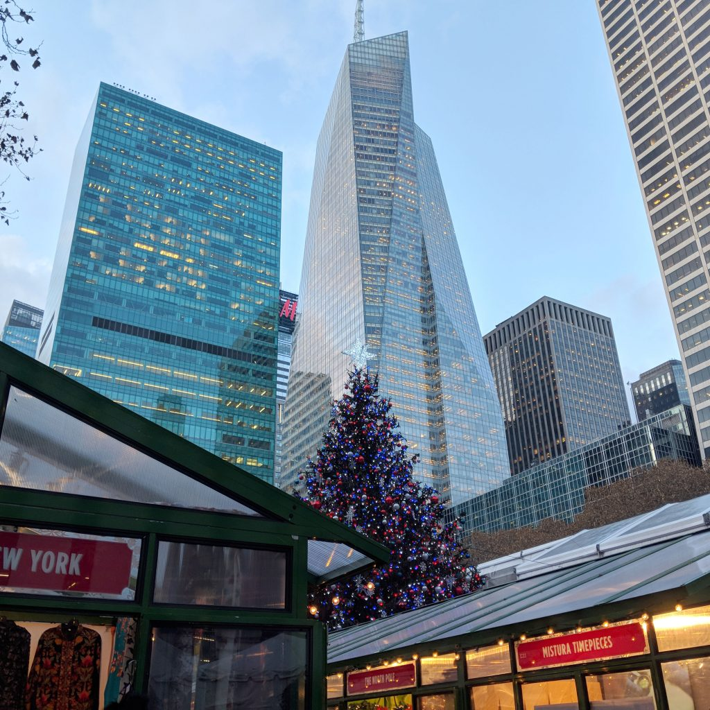 the holiday market in bryant park