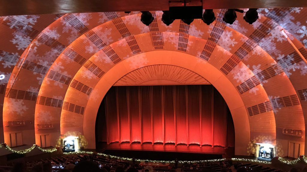 the stage at the radio city music hall