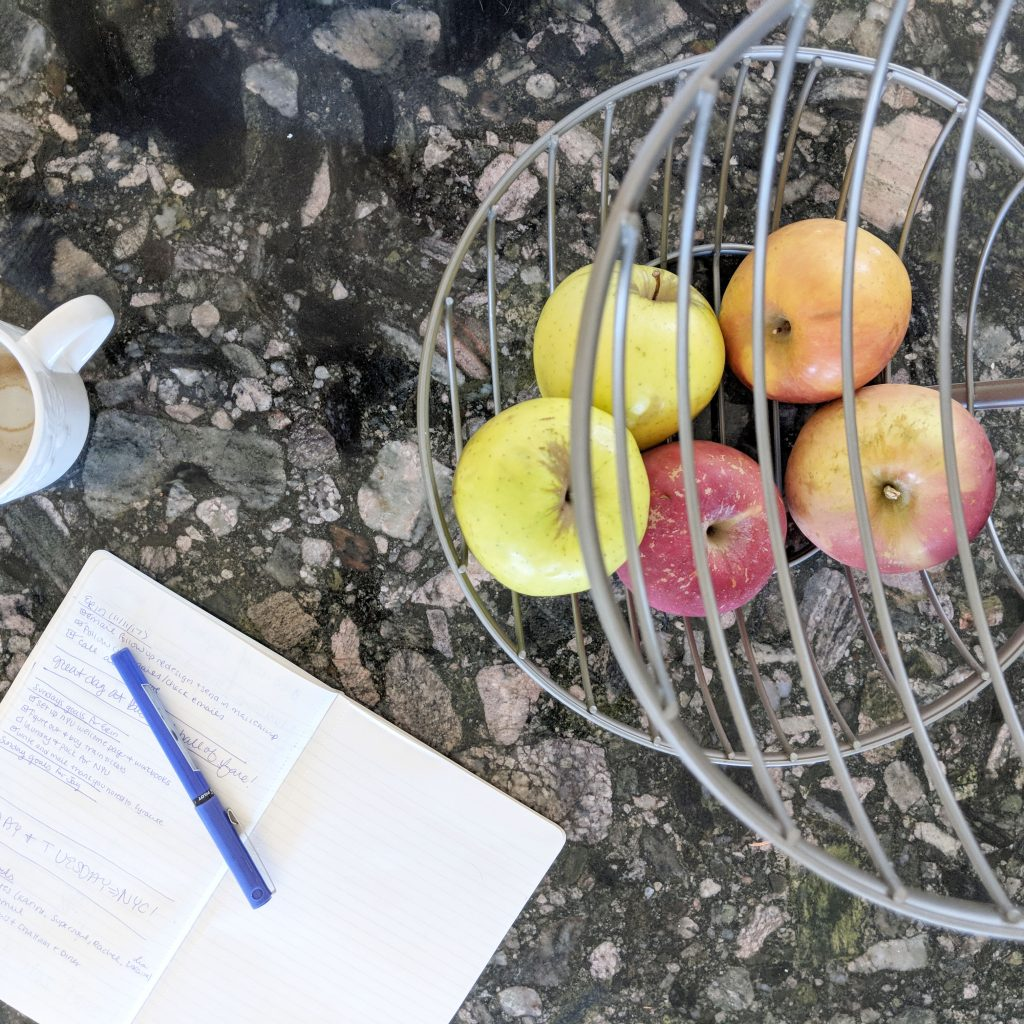fruit stand with apples
