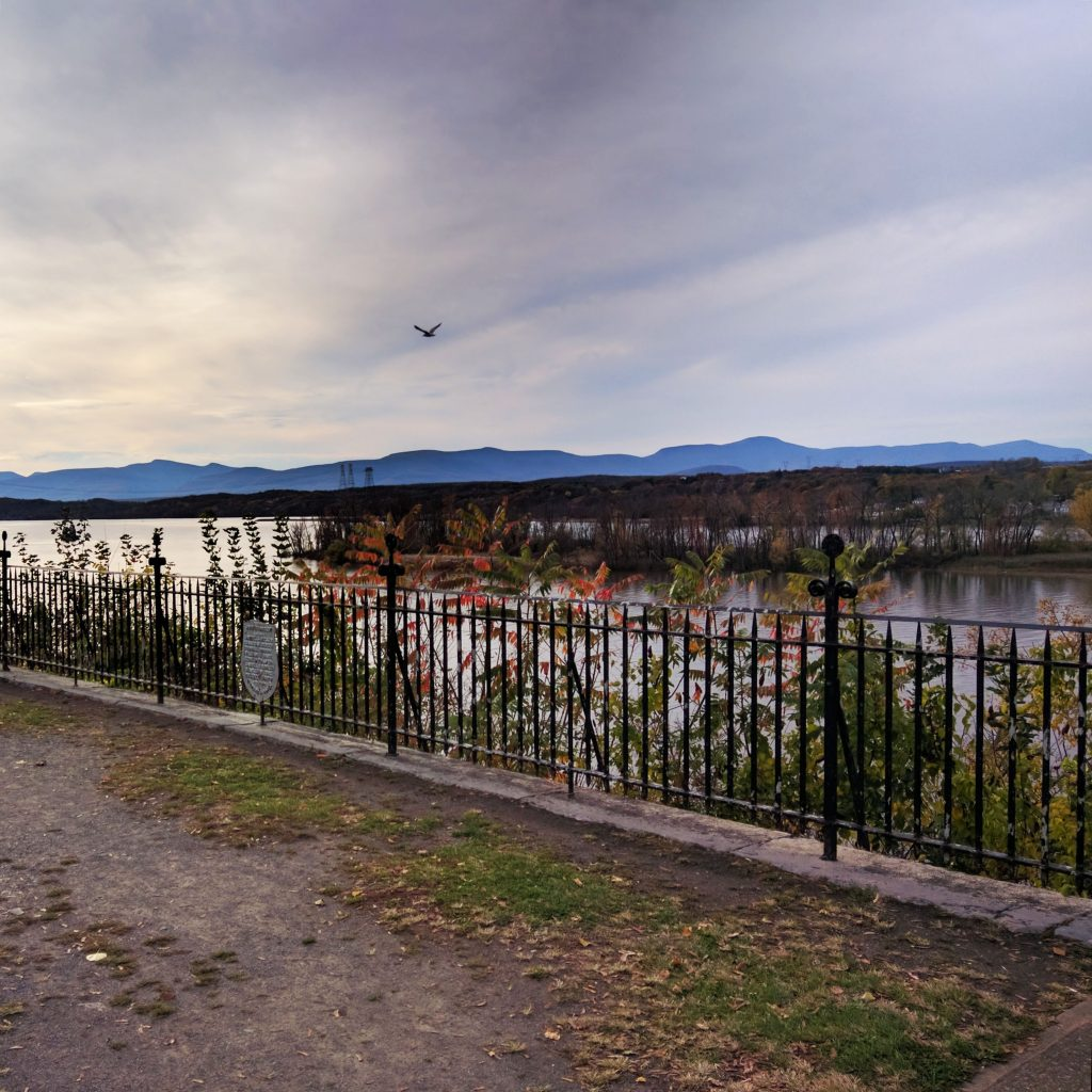 park above the hudson river in upstate new york