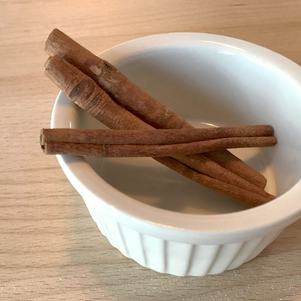 cinnamon sticks in bowl