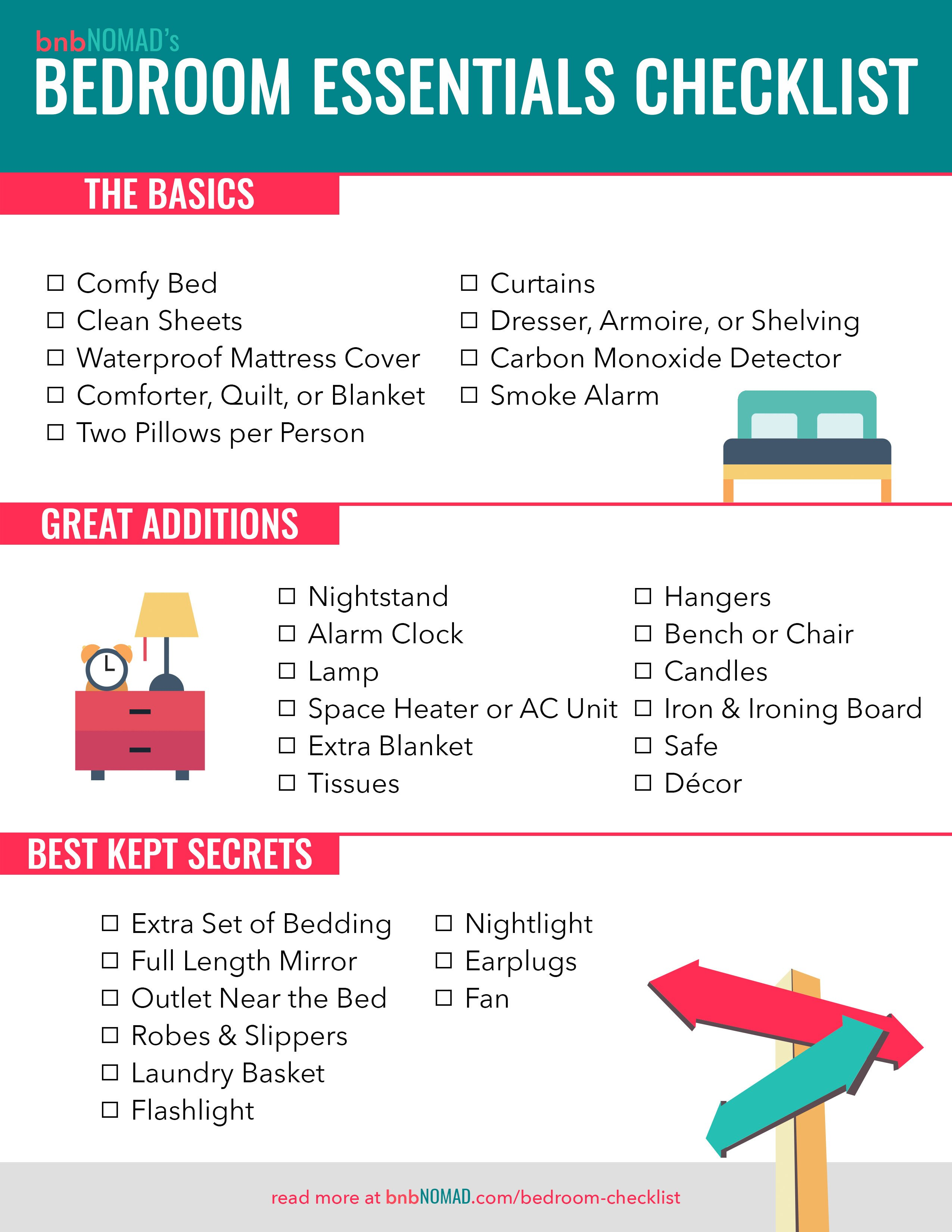 The Airbnb Host's Essential Bedroom Checklist