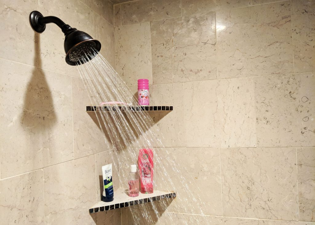 shower head in modern bathroom