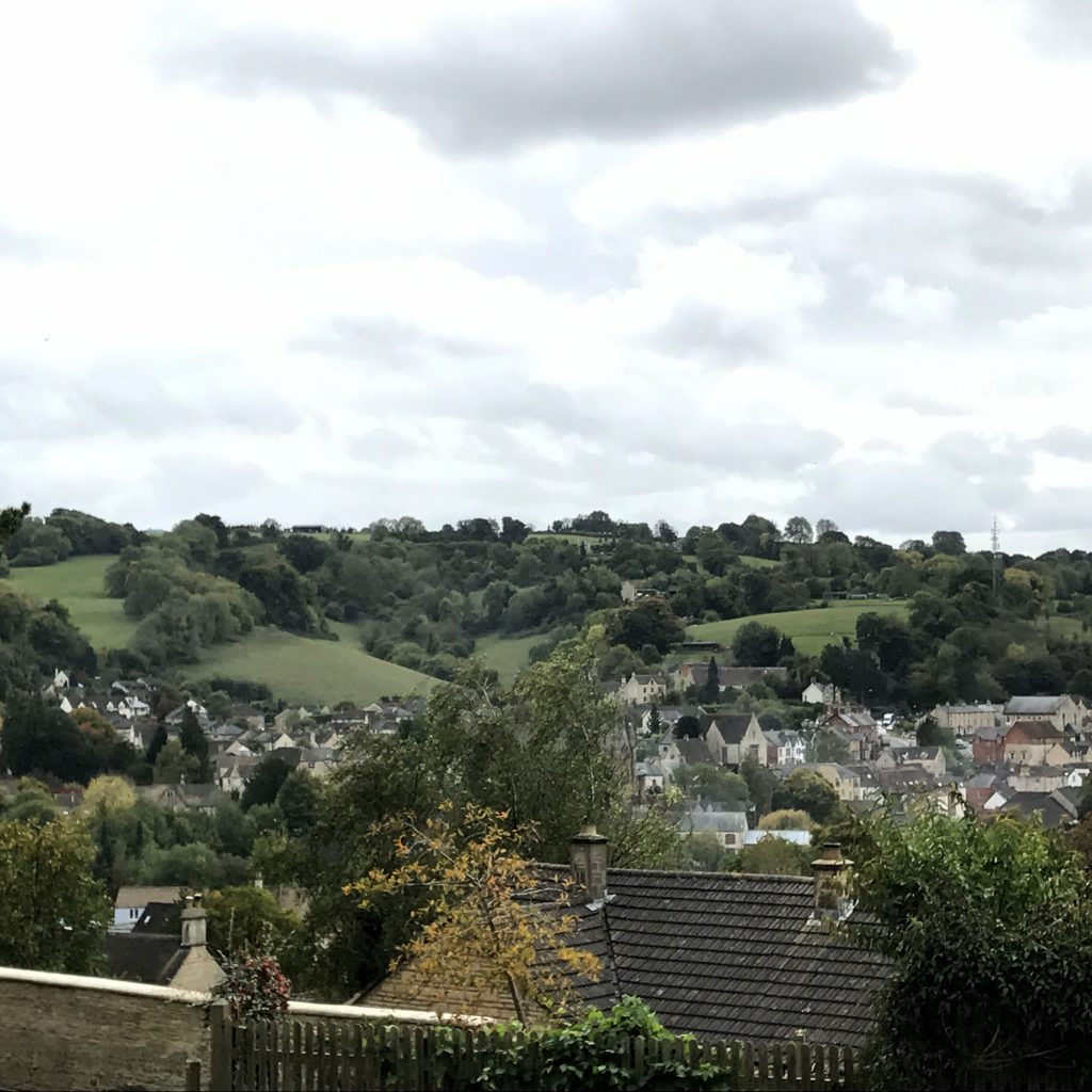 view of the english town of Nailsworth, England