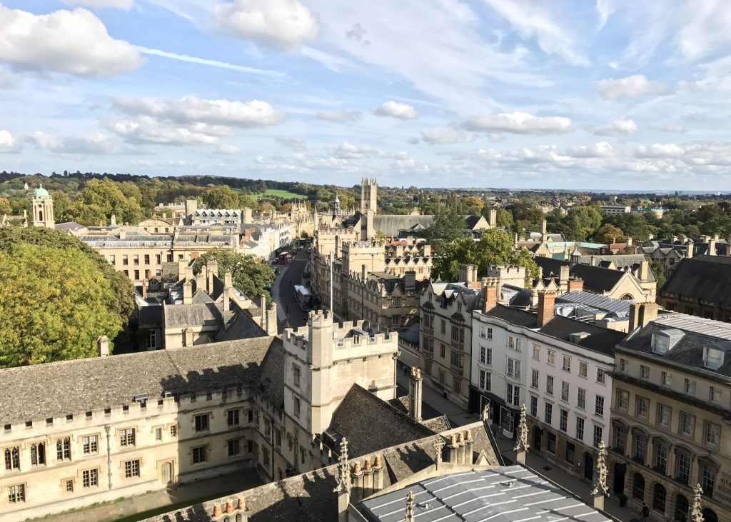 view of high street in Oxford, England