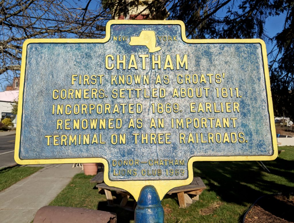 town sign about Chatham, New York