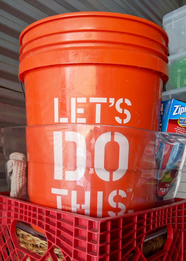 let's do this bucket from home depot