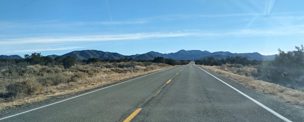 scenic byway the turquoise trail connecting Tijeras and Santa Fe in New Mexico
