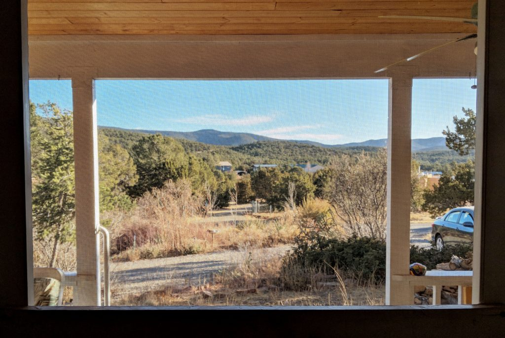 view of cibola national forest from Airbnb in Tijeras
