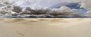 The dunes of White Sands National Monument