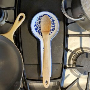 wooden spoon on holder