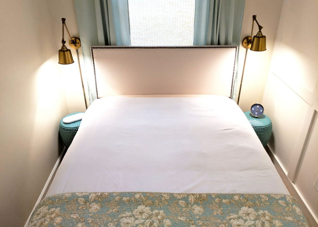 duvet on a bed