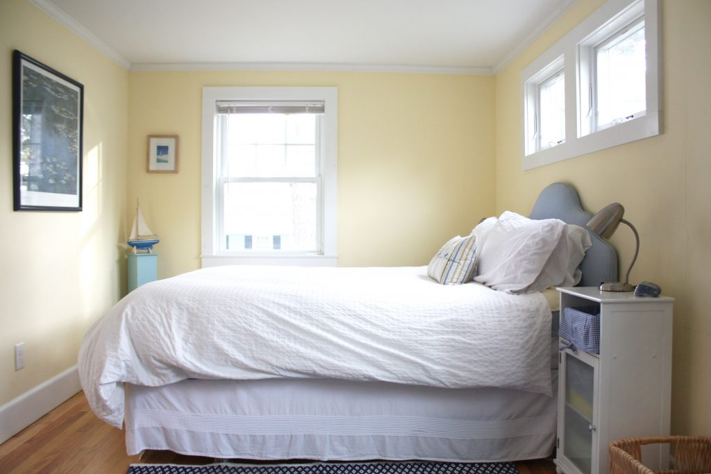 beautiful bed in cape cod airbnb