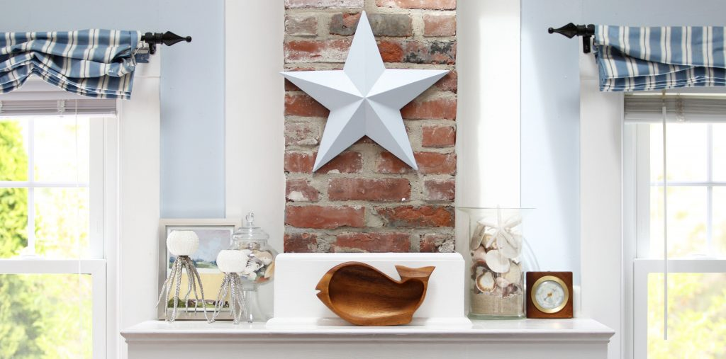 hearth with a nautical theme