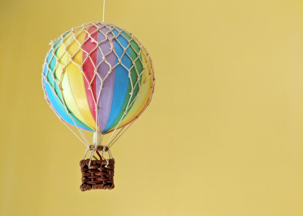 miniature hot air balloon