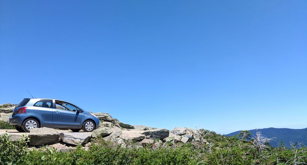 Our car on top of Mount Washington