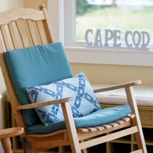 rocking chair in Cape Cod Airbnb