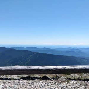 view from the top of Mount Washington in New Hampshire