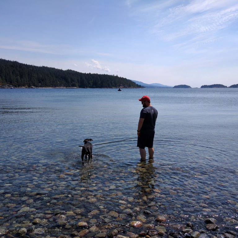 Airbnb travels visiting British Columbia beach