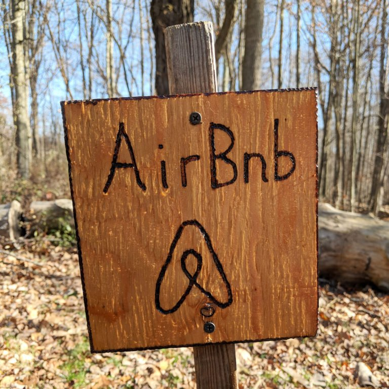 Airbnb Homemade Parking Sign