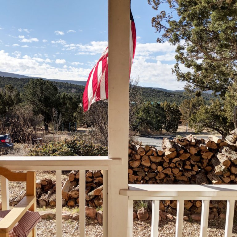 view of the mountains from New Mexico Airbnb
