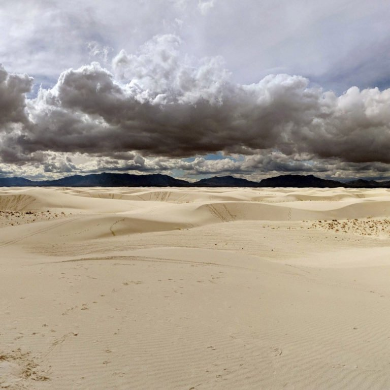 Airbnb travels in the white sands in New Mexico