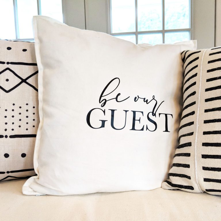 Be Our Guest Throw Pillow in Tennessee Airbnb