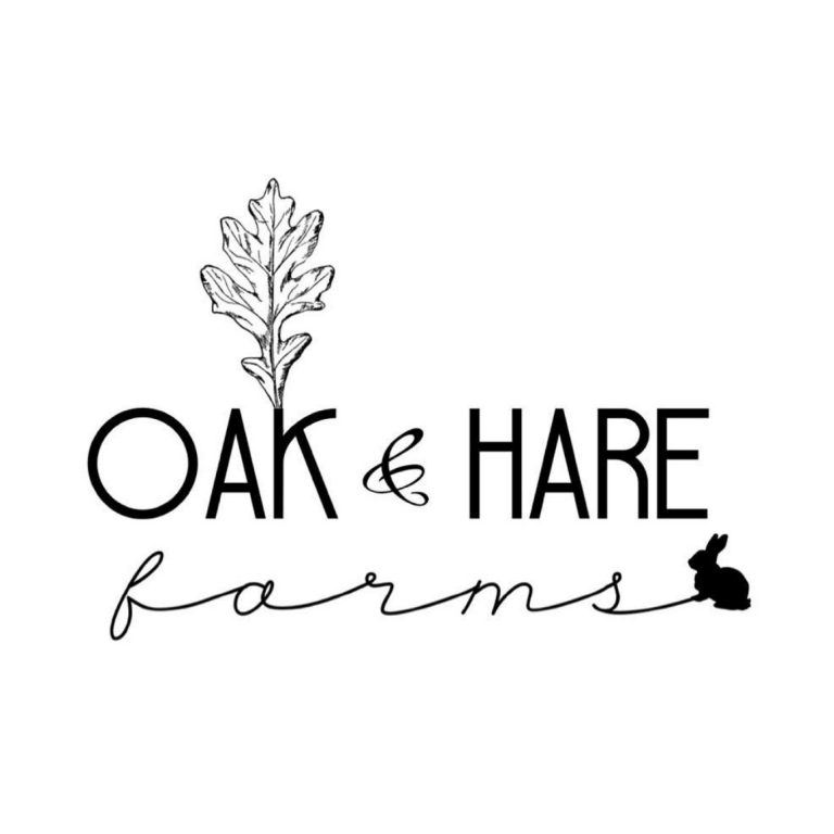 Logo for Oak and Hare Farms a Tennessee Airbnb