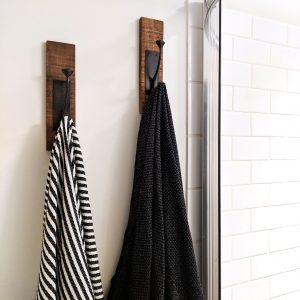 Turkish towels in bathroom in Be Our Guest Throw Pillow in Tennessee Airbnb
