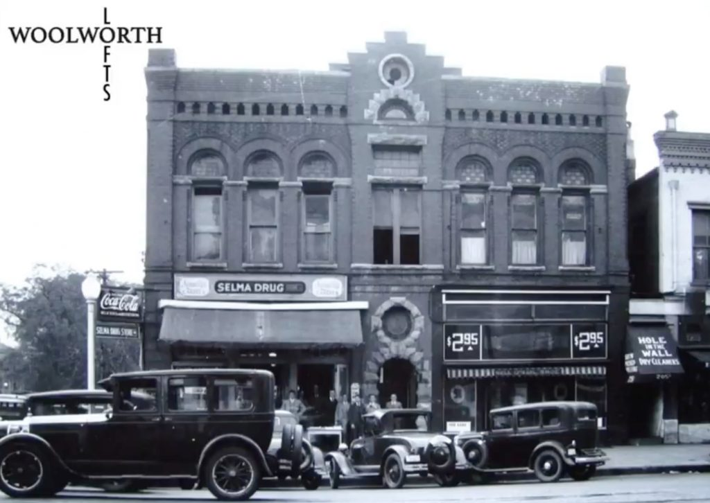 Airbnb Alabama_Woolworth Lofts_Historic Photo Selma Drug