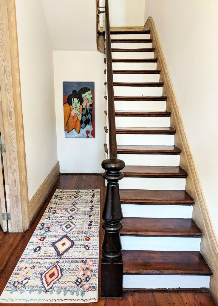staircase in New Orleans Airbnb