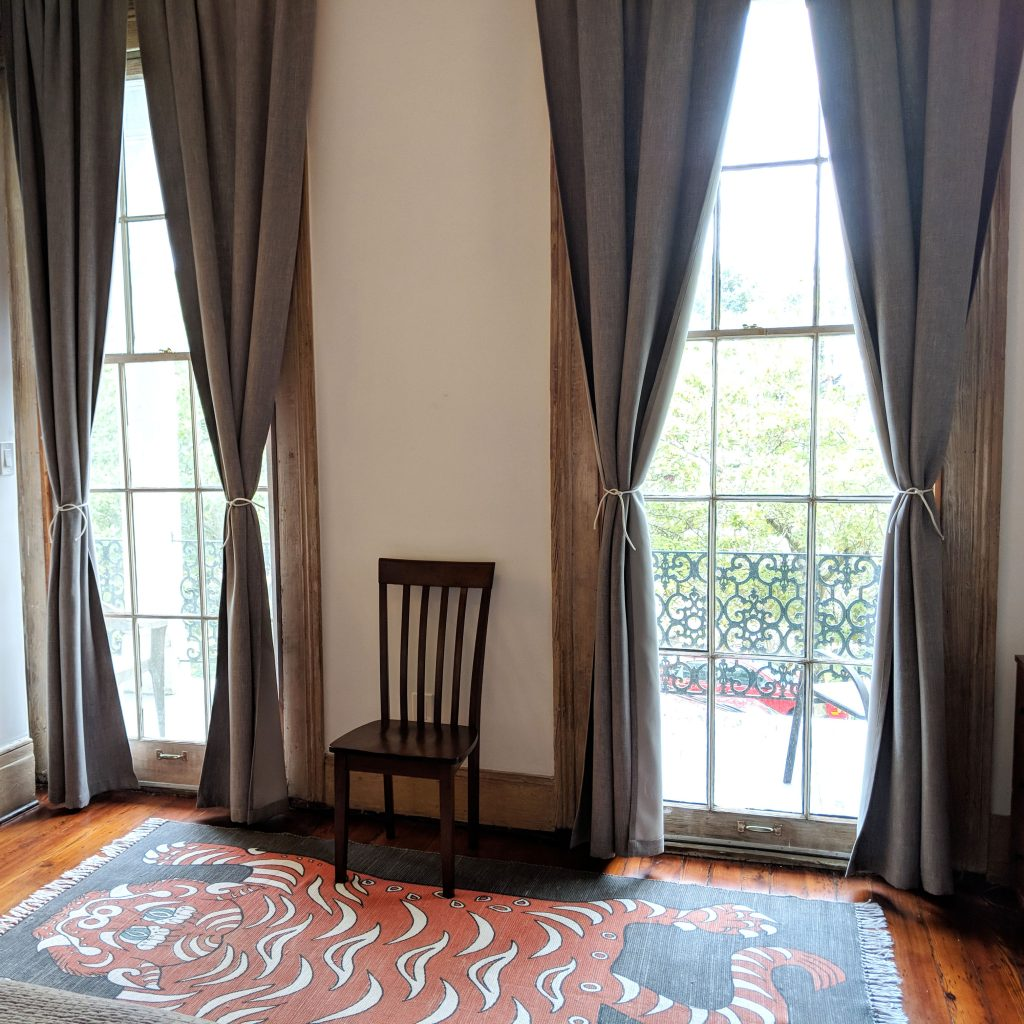 massive windows in New Orleans Airbnb