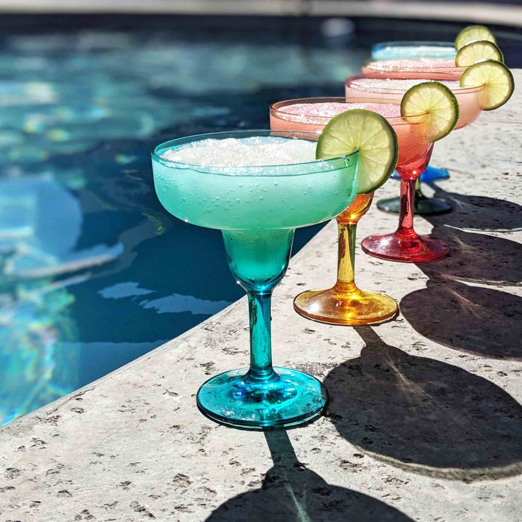 frozen margaritas by the pool