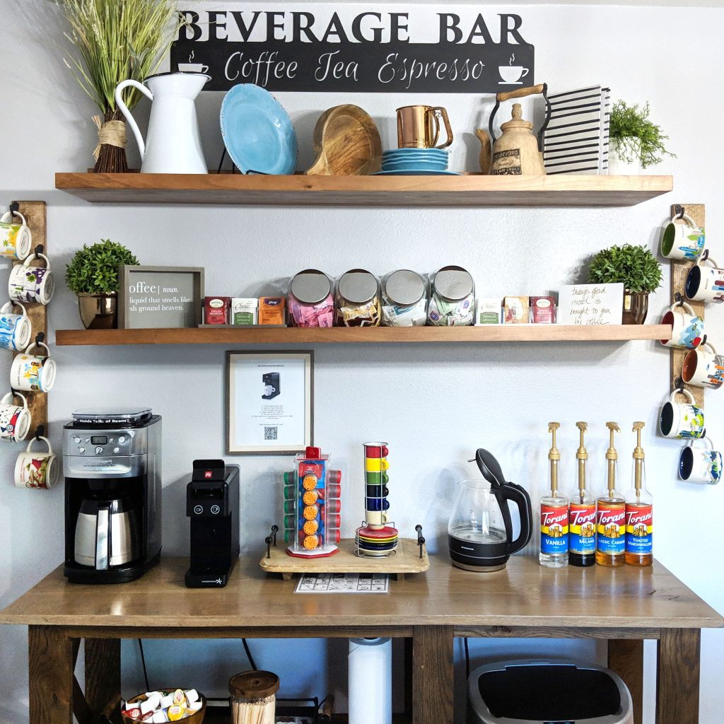 coffee and tea beverage bar