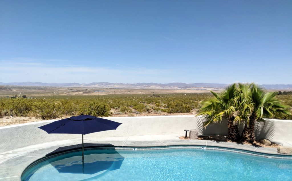 pool and desert view