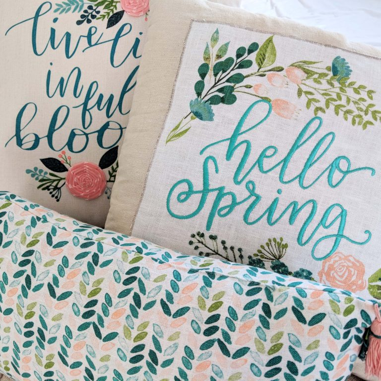 Hello Spring throw pillows Airbnb Gifts